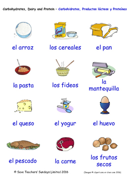 Food and Drink in Spanish Word searches / Wordsearches