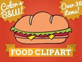 Food write in clip art