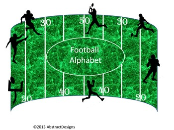 Football Alphabet (Word Wall Tags)