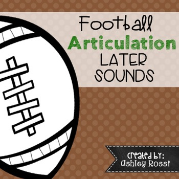 Articulation Football Themed - No Prep!