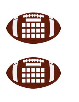 Football Behavior Sticker Chart