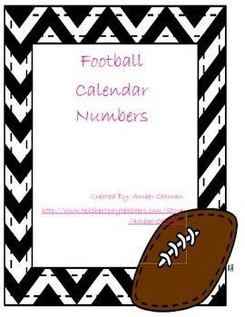 Football Calendar Numbers
