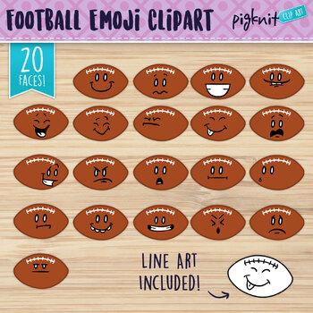 Football Clip Art, Football Faces, Football Characters, Fo