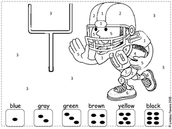 Football Color By Number