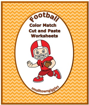 Football Color Match Activities P-K,Kindergarten,Special E