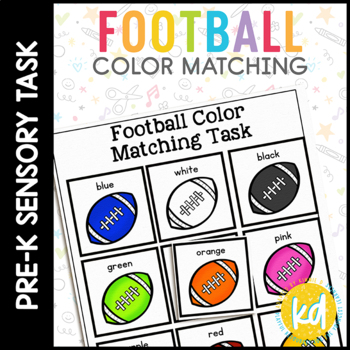 Football Color Matching Folder Game for students with Autism