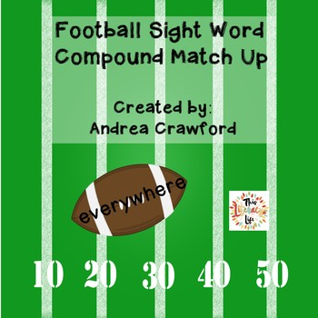 Football Compound Sight Words Match-Up {FREEBIE}