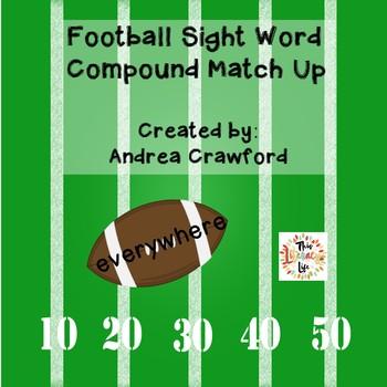 Football Compound Sight Words Match-Up {FREEBIE}