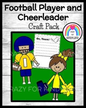 Sports Craft and Writing Pack: Football Player and Cheerleader