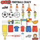 "Soccer / Football Clip Art: ""Football Crazy"""