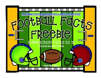 Football Facts Freebie - Subtraction within 10