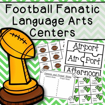Football Fanatic Langage Arts Centers