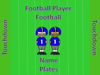 Football Football Player Name Plates