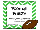 Football Frenzy Adding Center- Common Core Addition