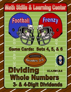 Football Frenzy Game Cards (Division with 3- & 4-Digit Div