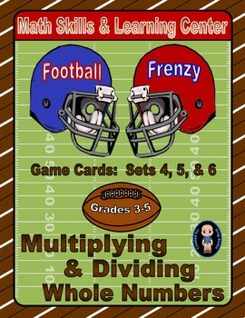 Football Frenzy Game Cards (Multiply & Divide Whole Number