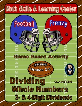 Football Math Skills & Learning Center (Division with 3- &
