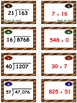 Football Frenzy Game Cards (Division with 2-Digit Divisors