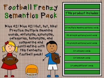 Football Frenzy Semantics Pack