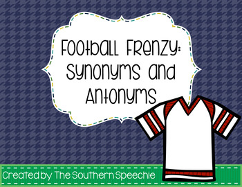 Football Frenzy Synonyms and Antonyms
