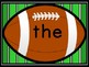 Football Fry First 100 Words Sight Word Flashcards and Posters