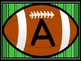 Football Full Page Alphabet Letter Posters