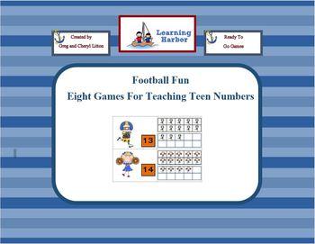 Football Fun Teaching Teen Numbers