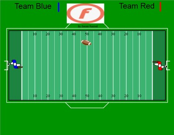 Football Game for Review of any Skills