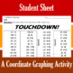 Touchdown! - A Coordinate Graphing Activity