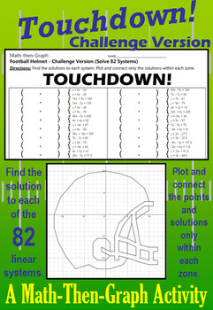 Touchdown! - 80+ Systems of Linear Equations & Coordinate