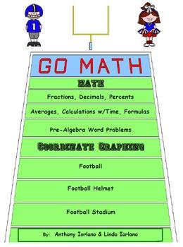 Football, Pre-Algebra Word Prob., Helmet, Stadium, Coordin
