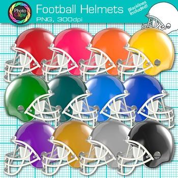 Rainbow Football Clip Art {Sports Equipment for Physical E