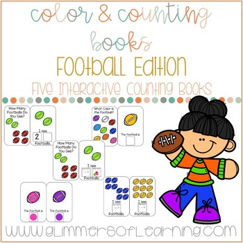 Football Interactive Color and Counting Books