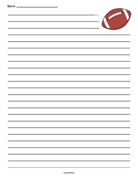 Football Lined Paper