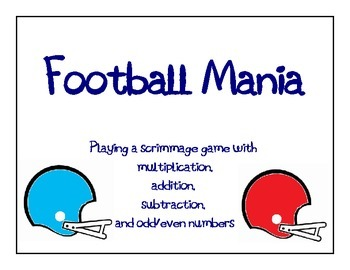 Football Mania Math Game: Multiply, Add, Subtract, Use Odd