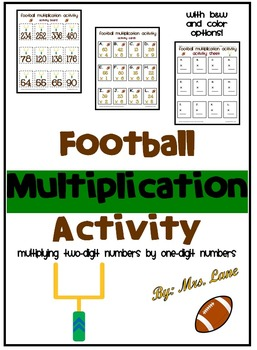 Football Multiplication Activity