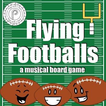 Football Music Game: Grand Staff and Piano Keyboard