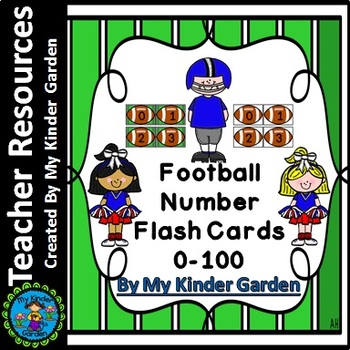 Football Number Flashcards 0-100