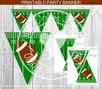 Football Party Banner - Party Printable