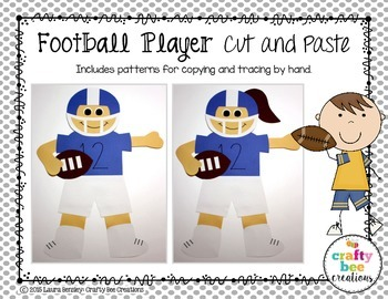 Football Player Cut and Paste