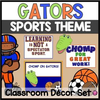 FLORIDA GATOR SPORTS THEME CLASSROOM DECOR for BACK TO SCHOOL