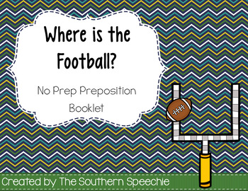 Football No Prep Preposition Booklet