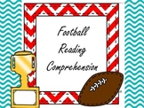 Football Reading Comprehension 3 story set with Assessments