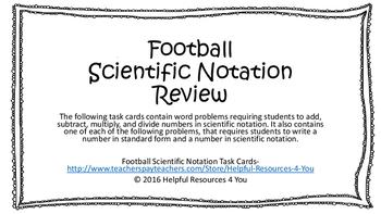 Football Scientific Notation Review