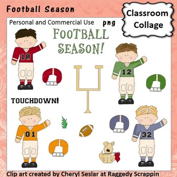 Football Season - Color - pers & comm use players goal pos