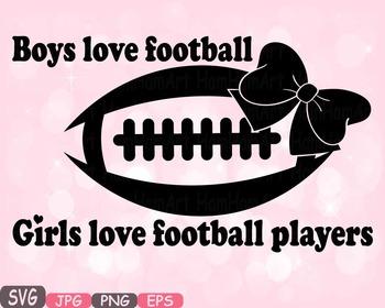 Football Sports Boys Love Football & Girls Love Silhouette