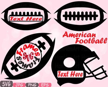 Football Sports Circle & Split Frame Silhouette clipart t-
