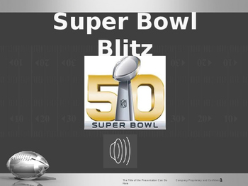 Football Super Bowl game