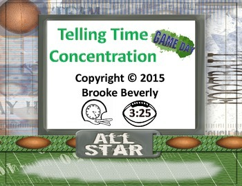 Football Telling Time Concentration