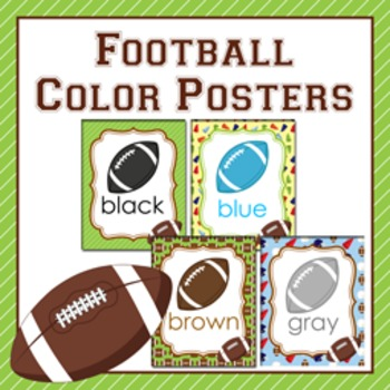 Football Theme Color Posters